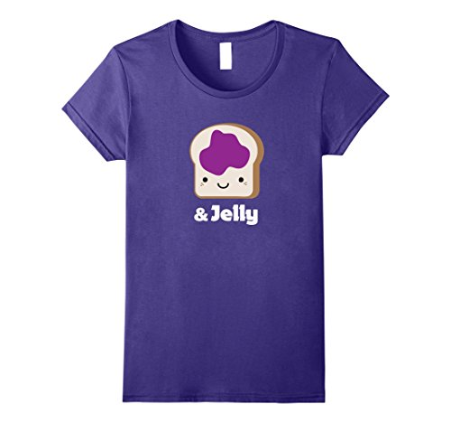 Womens MATCHING SET Peanut Butter and Jelly Couples Friend Shirt Large Purple