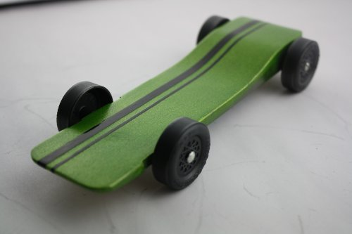 Pinewood Derby Car Kit Fast Speed Complete Ready to Assemble -Physics Lecture by Derby - Race Wood Pine Derby