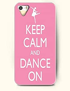 iPhone 5 5S Case OOFIT Phone Hard Case ** NEW ** Case with Design Keep Calm And Dance On- Ballet Girl - Case for Apple iPhone 5/5s