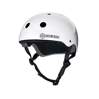 """187 Killer Pads Pro White Skateboard Helmet - Large / 22.1"""" - 22.9"""" : Skate And Skateboarding Helmets : Sports & Outdoors"""