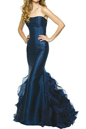 Avril Robe Élégante Bustier Sirène Train De Couches Robe De Soirée Longue Nouveau Bleu Ciel