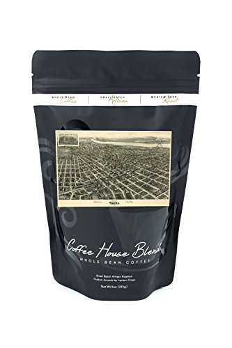 Tulsa, Oklahoma - Panoramic Map (8oz Whole Bean Small Batch Artisan Coffee - Bold & Strong Medium Dark