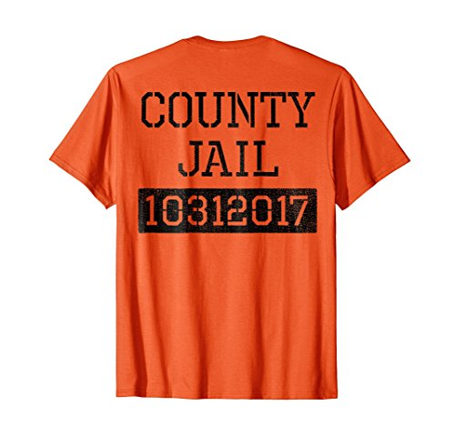 (Halloween Inmate Costume Orange Shirt County Jail)