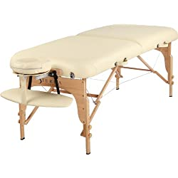 SierraComfort Luxe Portable Massage Table, Cream