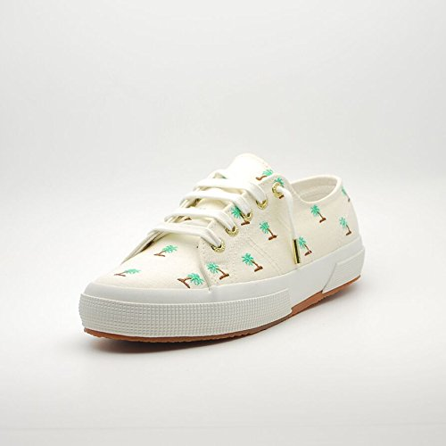 SCARPE DONNA SUPERGA 2750 LINEMBRW JENNIFER MEYER S00A410 (39 - 906 WHITE-GREEN)