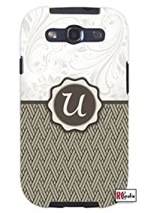diy phone caseCool Painting Monogram Initial Letter U Unique Quality Soft Rubber Case for Samsung Galaxy S4 I9500 - White Casediy phone case