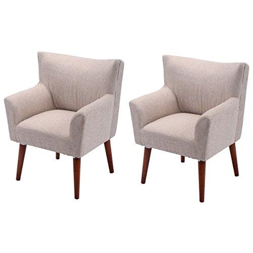 Giantex 2PCS Leisure Arm Chair Single Couch Seat Home Gar...