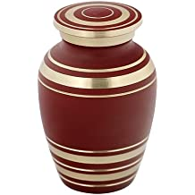 Silverlight Urns Elite Garnet Red Keepsake Urn, Mini Brass Urn for Ashes, 2.75 Inches High