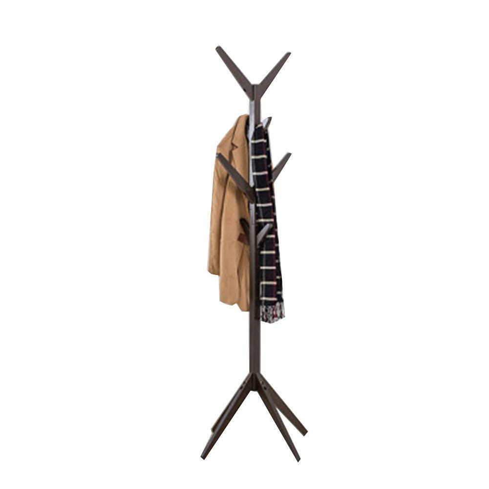 Brown DATOUFZR Solid Wood Coat Rack Landing Tree Group Disassembly Simple Hang Clothes for The Living Room Bedroom Storage Brown White (Ivory),Brown