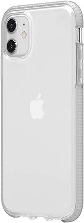 Griffin Survivor Clear Case Hülle Nach Militärstandard Für Apple Iphone 11 6 1 Dünnes Design I Stoßdämpfende Ecken I Qi Kompatible Handyhülle Transparent Gip 024 Clr Elektronik