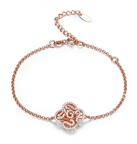 Fei Liu Cascade Mini Bracelet en plaqué or rose 18carats Longueur de 15,2cm