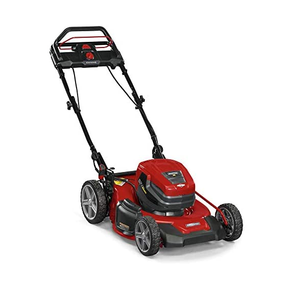 Snapper XD 82V MAX Step Sense Cordless Electric 19-Inch Lawn Mower Kit with (2) 2.0 Batteries and (1) Rapid Charger 3 StepSense Automatic Drive System : Intelligently adjusts to your mowing speed for easy operating pace Dual battery power head : houses two batteries to provide additional run time of up to 60 minutes** Intelligent load sensing technology : allows for optimum power levels while you mow for maximum efficiency
