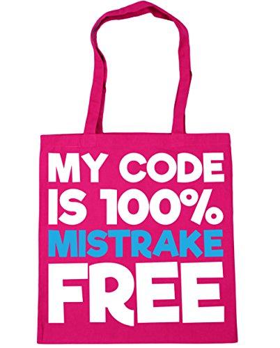HippoWarehouse My code is 100% mistrake gratis Einkaufstasche Fitnessstudio Strandtasche 42cm x38cm, 10 liter - Fuchsia, One size