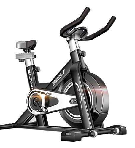 LQUIDE Professional Indoor Exercise Bike, arm Support, Pulse Belt Compatible - Indoor Cycling with Low-Noise Belt Drive System