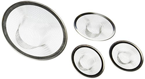 Kitchen Sink Strainer Mesh Stainless Steel Design Tub Drain Bathroom Utility Laundry Room 4pk by Altogether Works