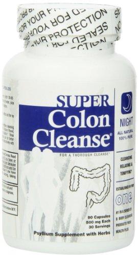 Santé Plus de Super Colon Cleanse, Nuit Formule Capsules, 500 Mg. Chaque comte 90