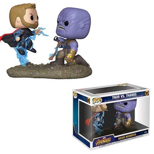 Thanos Pop Vinyl Figure Movie Moments Avengers Infinity War Thor Vs
