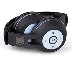 SoundLogic XT Wireless Bluetooth On-Ear Stereo Light Up Headphones with LED Lights, Foldable, Adjustable