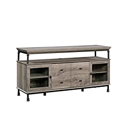 Sauder Canal Street Entertainment Credenza, For TV's up to 60″, Northern Oak Finish