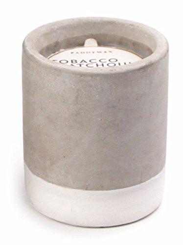 Paddywax Urban Collection de Cera de Soja Vela en Hormigón Bote, Tabaco y pachulí (Tobacco & Patchouli), Blanco, 1