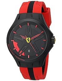Ferrari Men's 0830159 Lap-Time Black and Red Watch