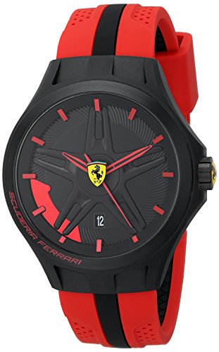 Price comparison product image Ferrari Men's 0830159 Lap-Time Black and Red Watch