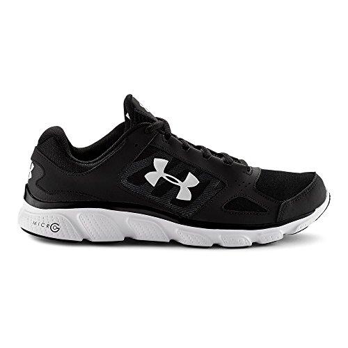 Under Armour Men's UA Micro G Assert V Black/White/White Sneaker 10.5 D - Medium