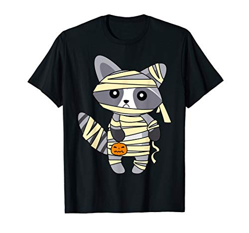 Trick Or Treating On Halloween 2019 (Mummy Racoon Trick or Treating Costume Cute Halloween Gift)