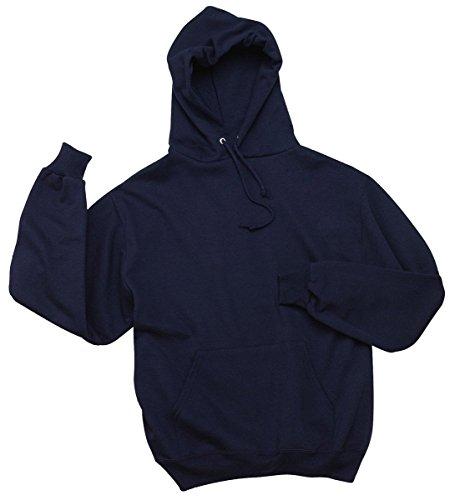 Jerzees Cotton Pullover - Jerzees 8 oz., 50/50 NuBlend Fleece Pullover Hood (996)- J NAVY,L