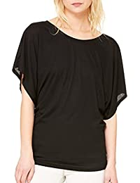 Crystal Boatneck Sheer Dolman Sleeve Blouse Jersey Tee Up to Plus Size