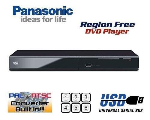 パナソニック Panasonic DVD-S500(国内仕様 HDMI非搭載モデル) リージョンフリーDVDプレーヤー(PAL/NTSC対応) 全世界のDVDが視聴可能 【完全1年保証 3年延長保証対応 販売店限定保証書/世界のリージョンコード&映像方式ガイド/ディスククリーナー 付属】 B07778WRPV