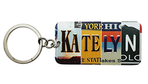 Price comparison product image Multi-State License Plate Name Charm Keychain: Katelyn - By Ganz