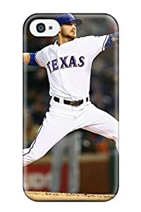 DanRobertse Scratch-free Phone Case For Iphone 4/4s- Retail Packaging - Texas Rangers