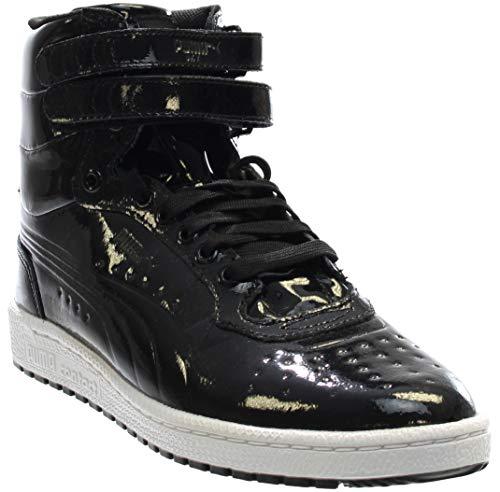 PUMA Men's Sky ii hi Patent Emboss Fashion Sneaker, Black, 7 M US