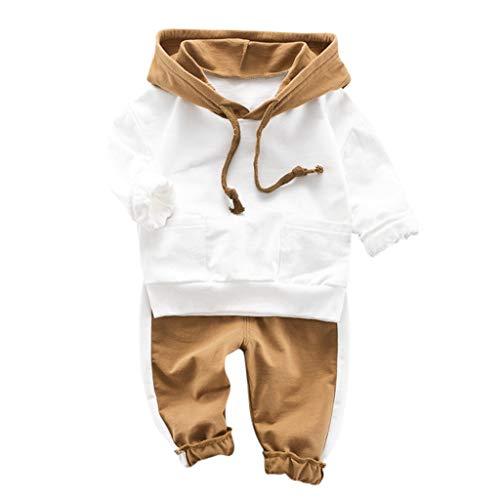VIASA Toddler Kids Boy Girls Tops Sweatshirt Bear Print Hooded Pullover T-Shirt Sweater Hoodie Top+Pants Outfits(6-36 Months) (Bear Grils Pants)