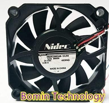 Bomin Technology for Nidec M60R24MGAB-53J56 24V 0.08A 6CM Cooling Fan