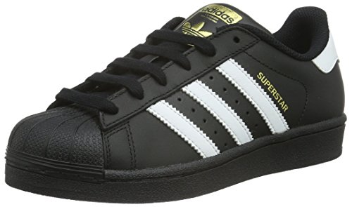 adidas Superstar J Basket Mode Garçon Noir (Core Black/footwear White/Core Black)