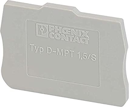 Din Rail Terminal Blocks End Cover For Mpt 1, 5/S - - Amazon com