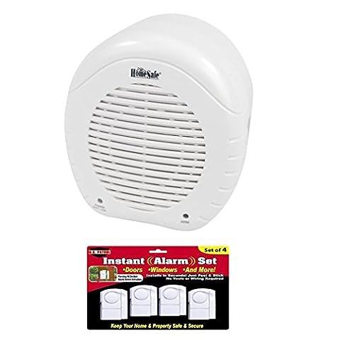 Electronic Barking Dog Alarm and Window/Door Alarm Set (Doberman Door Alarm With Remote)