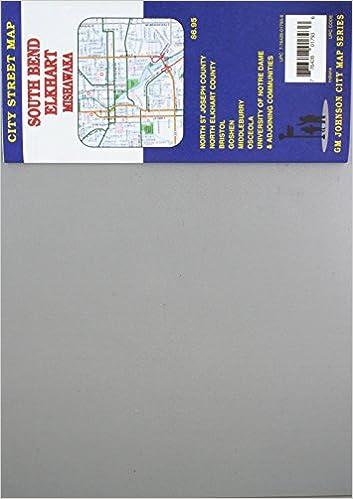 South Bend Elkhart Mishawaka Indiana Street Map Gm Johnson