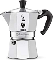 Bialetti Moka Express StoveTop Coffee maker, 3-Cup, Aluminum Silver
