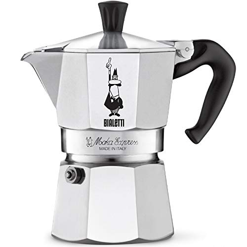 The Original Bialetti Moka Express - 3 Cup Stovetop Coffee Maker with Safety...