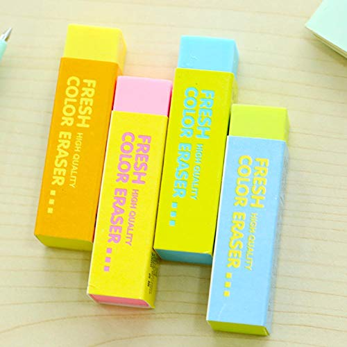 36 pcs/Lot Macaron color eraser PVC 4B colored eraser Stationery Office supplies Material escolar borrachas gomme by PomPomHome (Image #2)