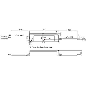en plastique IP67 cispr32 EN61000/ Class B blanc en55032/ /&nb EN61000/ /3-2/Class A Mean Well lpv-150/ /Accessoire dEclairage Lighting Power Supply /48/Lighting Power Supply/