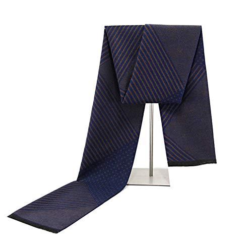 Tricoté Automne Bleu Hiver Écharpe Coton Pour Amdxd 180cm Treillis B Femmes 0wTxInq7p