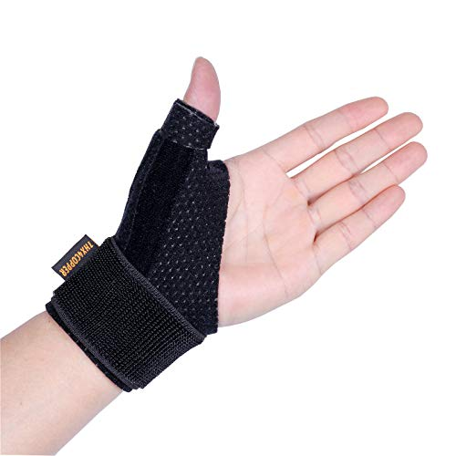 Thx4 Copper Compression Reversible Thumb & Wrist Stabilizer Splint for BlackBerry Thumb, Trigger Finger, Pain Relief, Arthritis, Tendonitis, Sprained, Carpal Tunnel, Stable, Lightweight, Breathable (Thumb Joint Support)