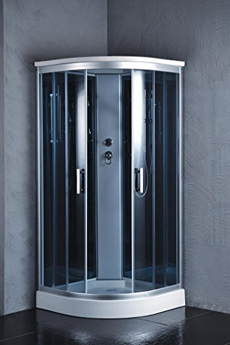 "Luxury Kokss 9918 Shower enclosure 36"" x 36"" Multi function hand shower and overhead rain. Modern shower enclosure with futuristic look, Computer control panel, home bathroom design by bath masters (Image #5)"