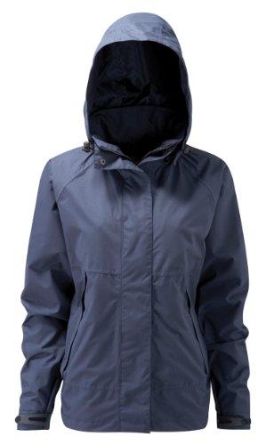 Paroh Damen-Regenjacke HydraPor HPLCJ Davaar, regendicht, mit abnehmbarer Kapuze, Größe S, Marineblau