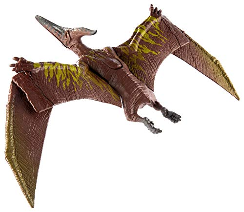 Jurassic World Sound Strike Pteranodon Figure with Strike and Chomping Action, Realistic Sounds, Movable Joints, Authentic Color and Texture; Ages 4 and Up