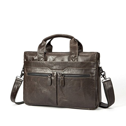 Bags Leisure Leather Notebook Casual First Shoulder Bag Satchel Vintage Business Layer Men's Men's Briefcase Handbags Suitable Qi For Business Leather wq80PaT